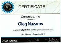 Сертификат прохождения обучения методу EyeDetect (АйДетект)_1